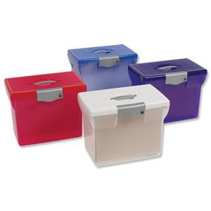 Pierre Henry Freestyle File Box Plastic For Suspension Files A4  W370xD240xH300mm Dark Purple Ref 040081
